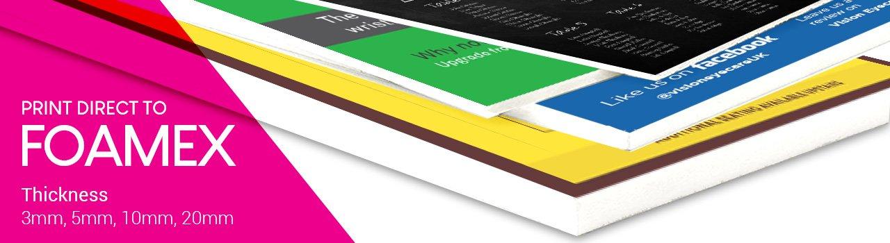 Foamex printing company, Foamex printing uk