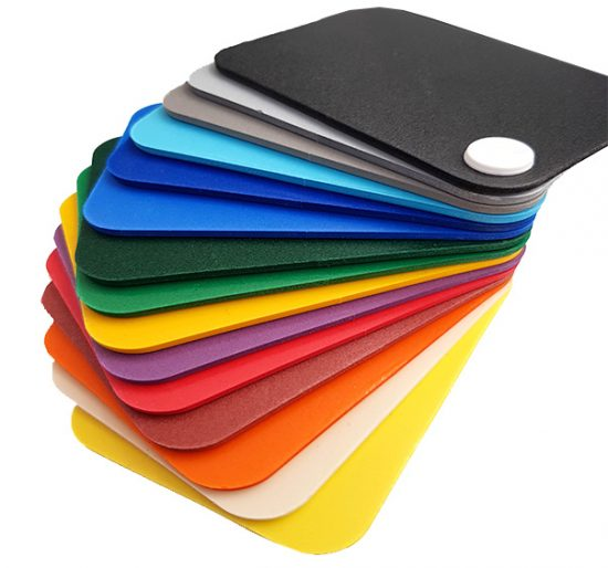 Coloured foamex sheets