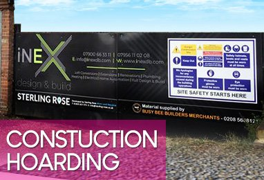 Foamex printing London, construction site hoarding design
