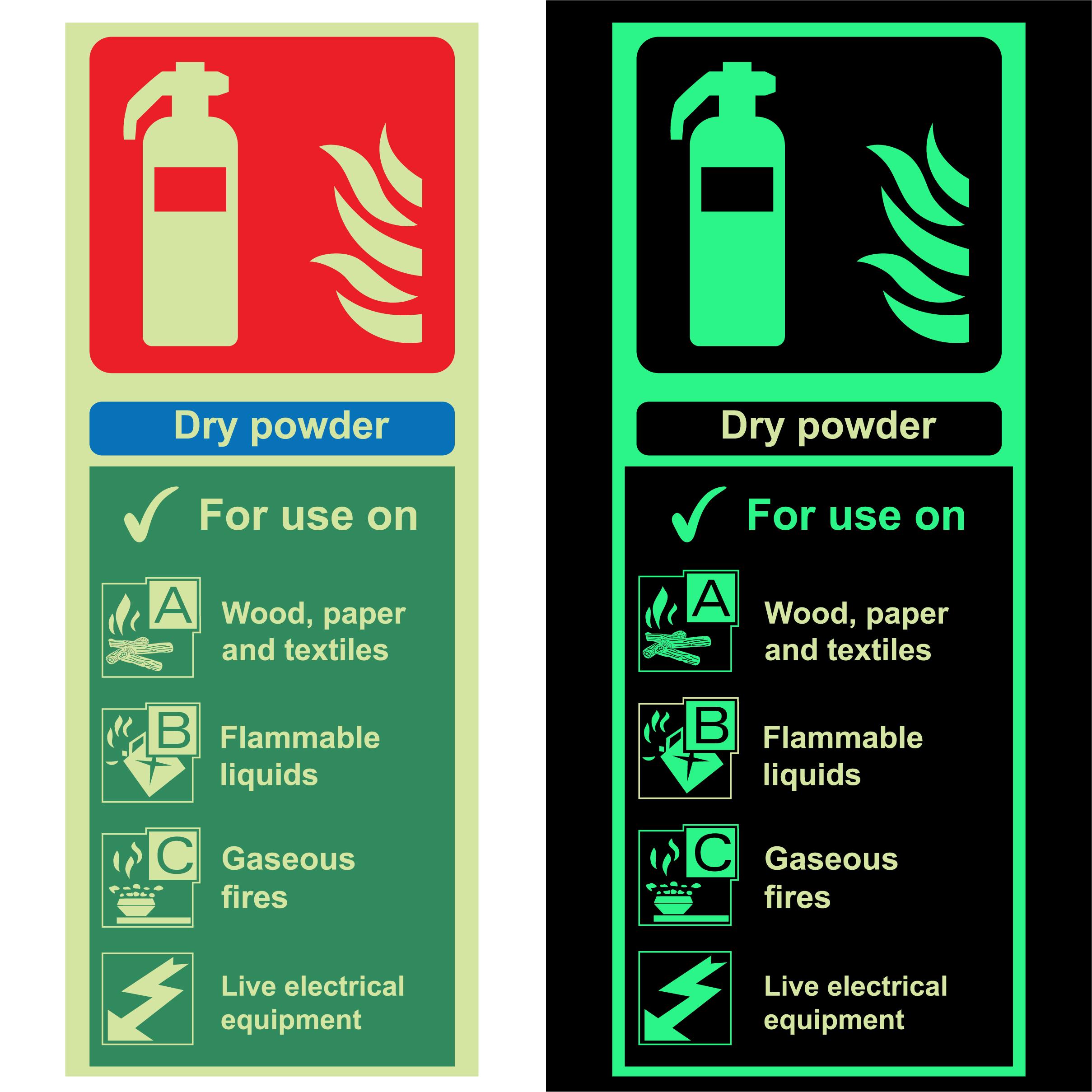 Photoluminescent Fire Extinguisher – Dry Powder